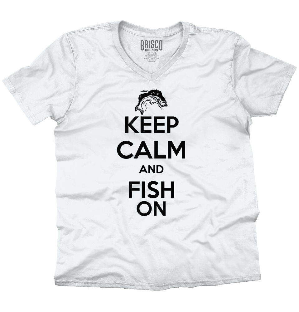 Keep calm fish on funny political humor fishing hunting for Fishing t shirts brands