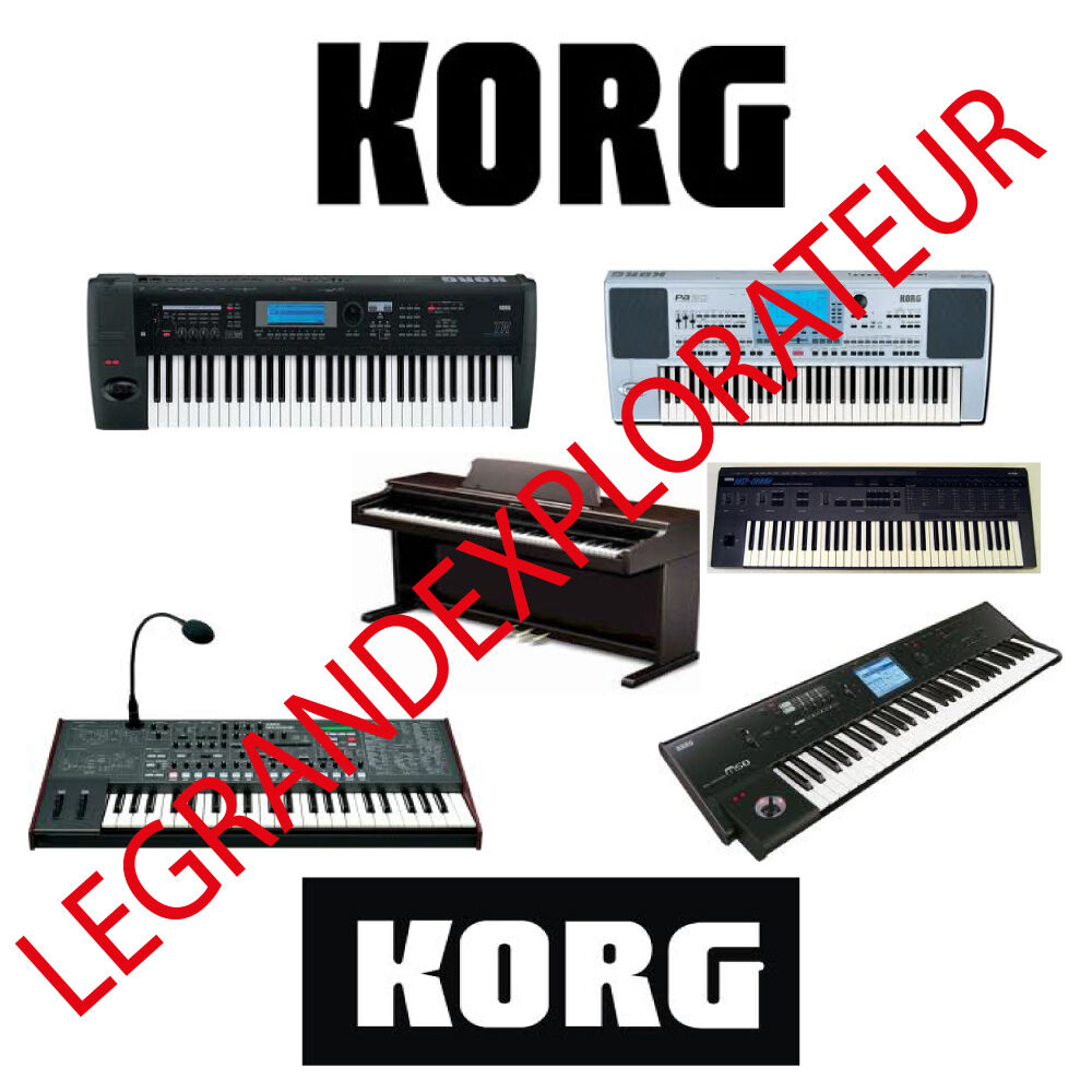 Ultimate KORG Repair Service & Schematics Manuals (135 PDFs manual s on  DVD)   eBay