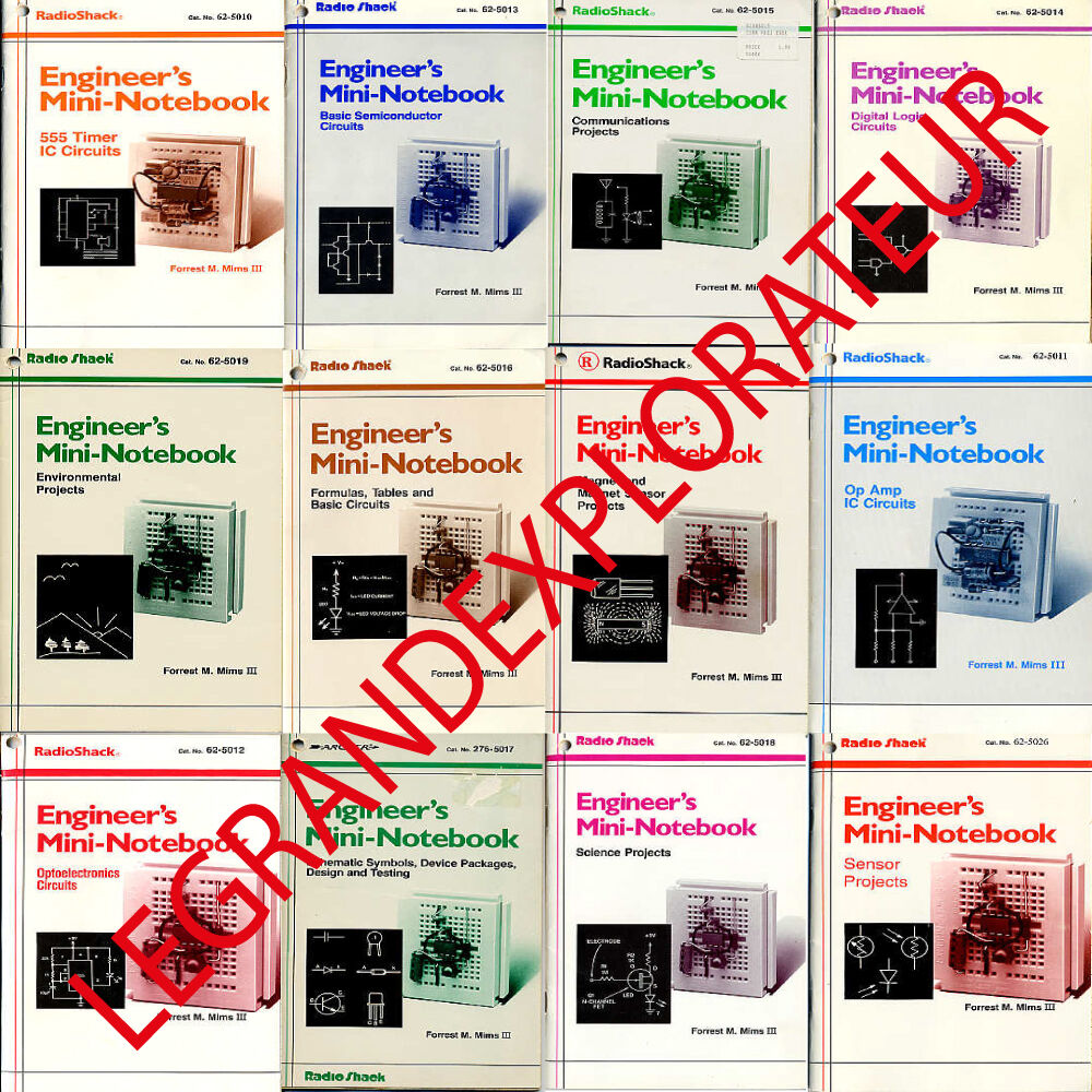 Ultimate Radioshack Engineers Mini Notebooks Forrest Mims 43 Pdfs 555 Timer Ic Circuits Pdf Manual S Dvd Ebay