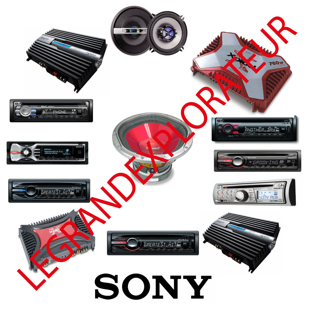 Ultimate Sony Car Radio Repair Service Manuals CDC CDX MDX