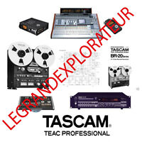Ultimate TASCAM Owner, Repair, Service Manuals & Schematics (PDFs manual s  DVD)