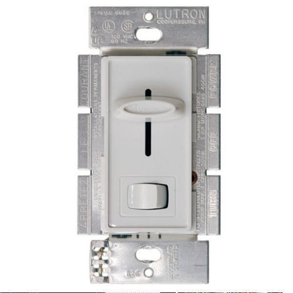 lutron sfsq lf wh quiet 1 5amp ceiling fan and light dimming control. Black Bedroom Furniture Sets. Home Design Ideas
