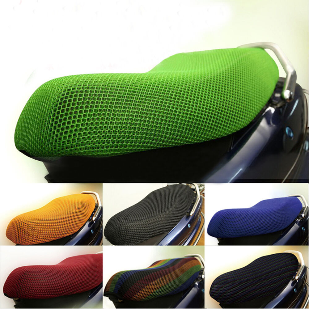 3d motorcycle electric car net seat cover scooter mesh breathable cushion mat ebay. Black Bedroom Furniture Sets. Home Design Ideas