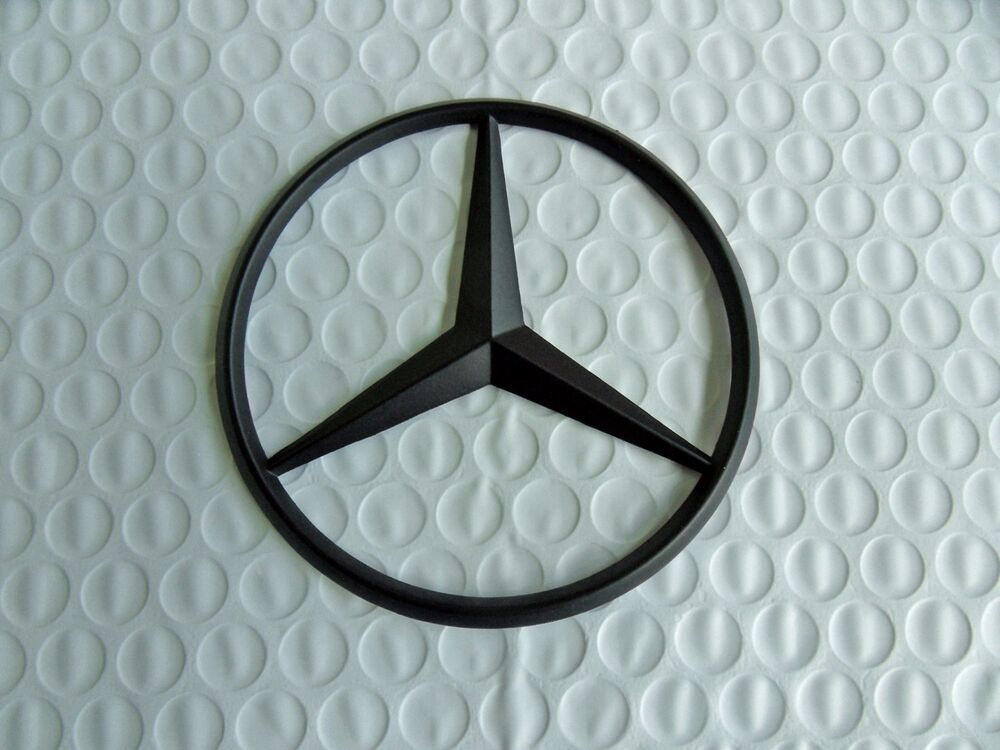 New for mercedes benz flat black star trunk emblem badge for Mercedes benz trunk emblem