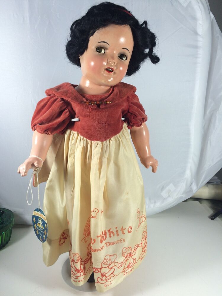 Rare Antique Composition Ideal 18 Quot Snow White Doll Flirty