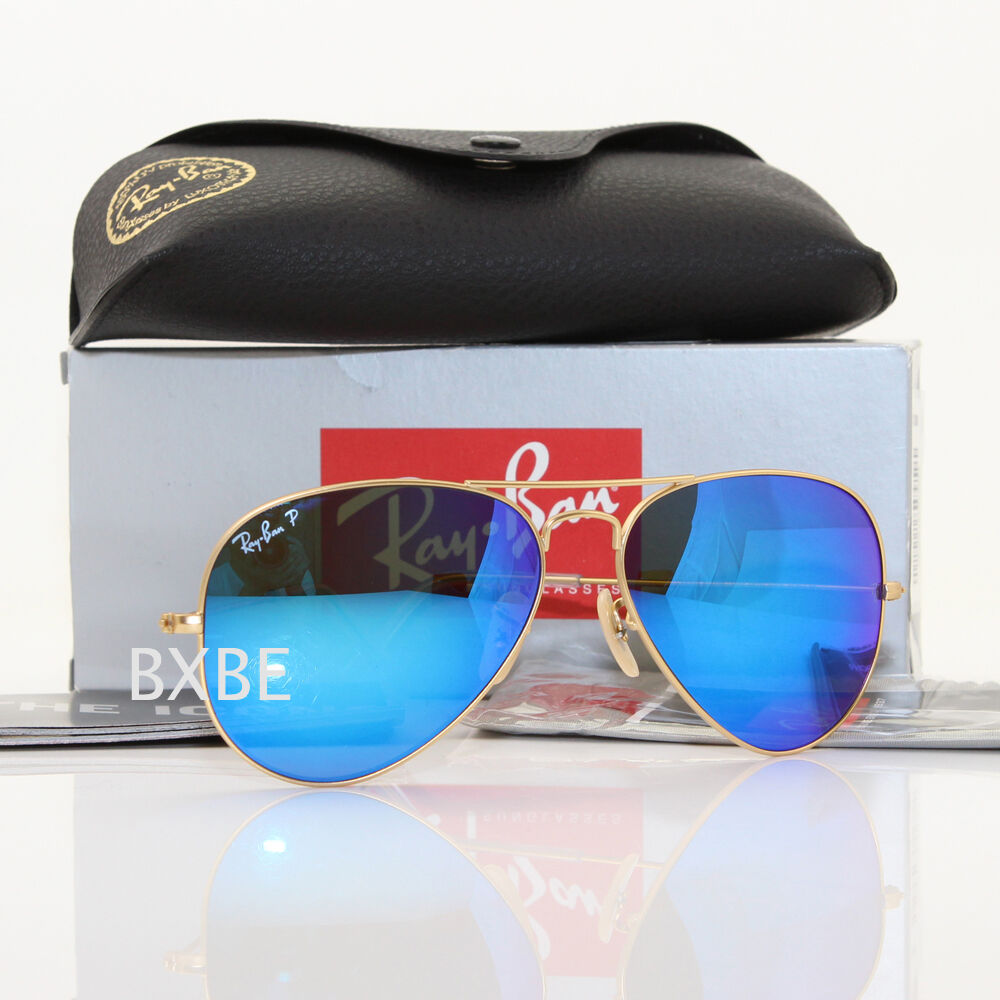 Ray Ban Aviator Mirror Blue