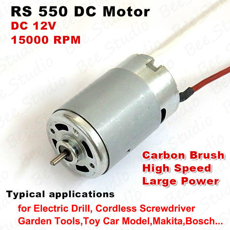 Mini Rs 550 Electric Dc Motor 12v 15000rpm High Speed