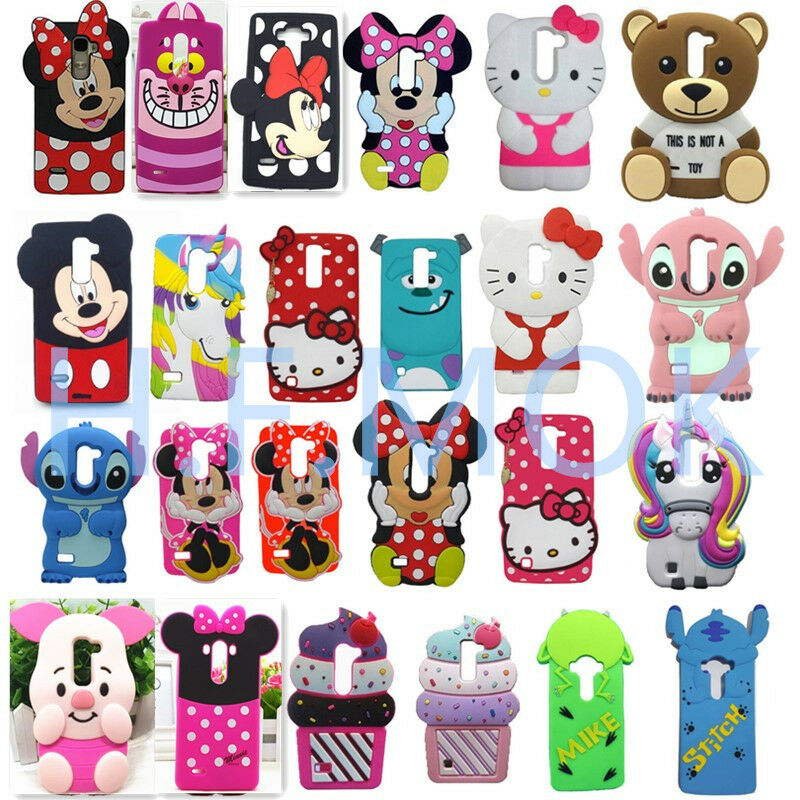 3D Disney Cartoon Silicone Soft Phone Cover Case Skin For