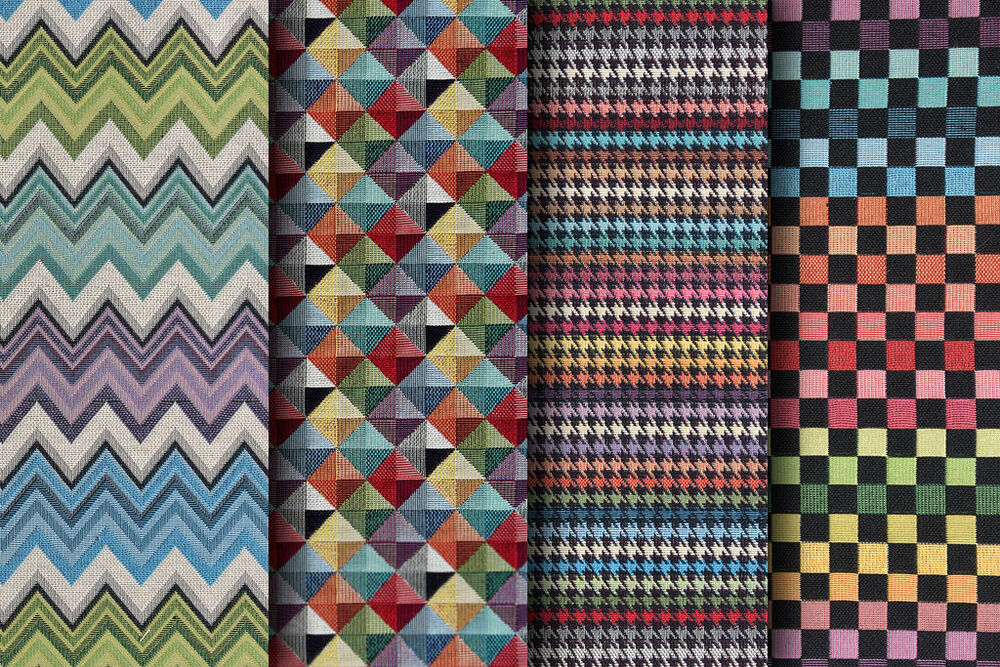 designer fabric quality woven upholstery curtain fabric geometric designs ebay. Black Bedroom Furniture Sets. Home Design Ideas