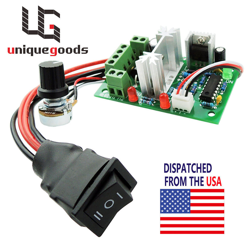 Dc 10 30v motor speed controller reversible switch pwm for Dc motor speed controllers