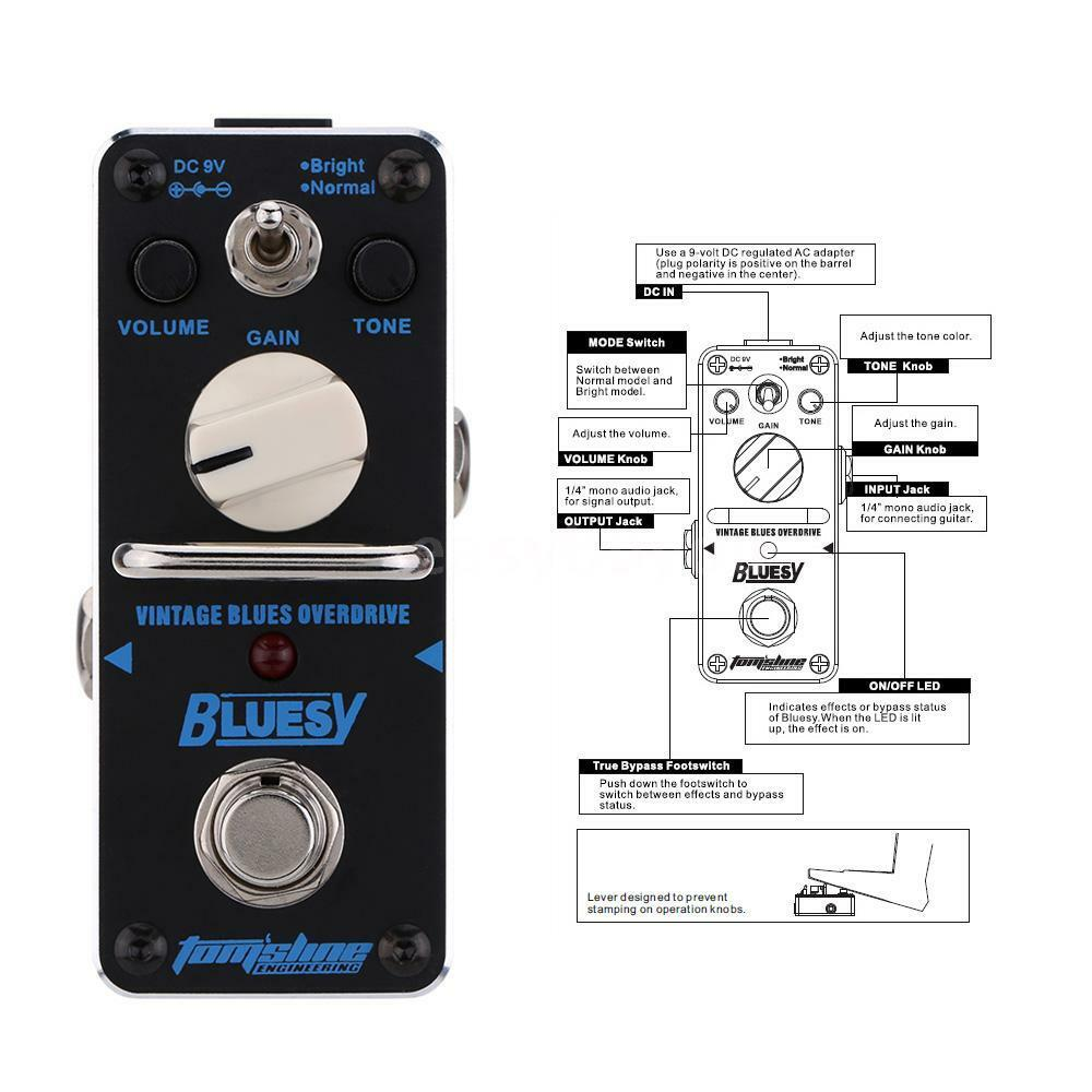 aroma aby 3 bluesy vintage blues overdrive electric guitar effect pedal i1m8 ebay. Black Bedroom Furniture Sets. Home Design Ideas