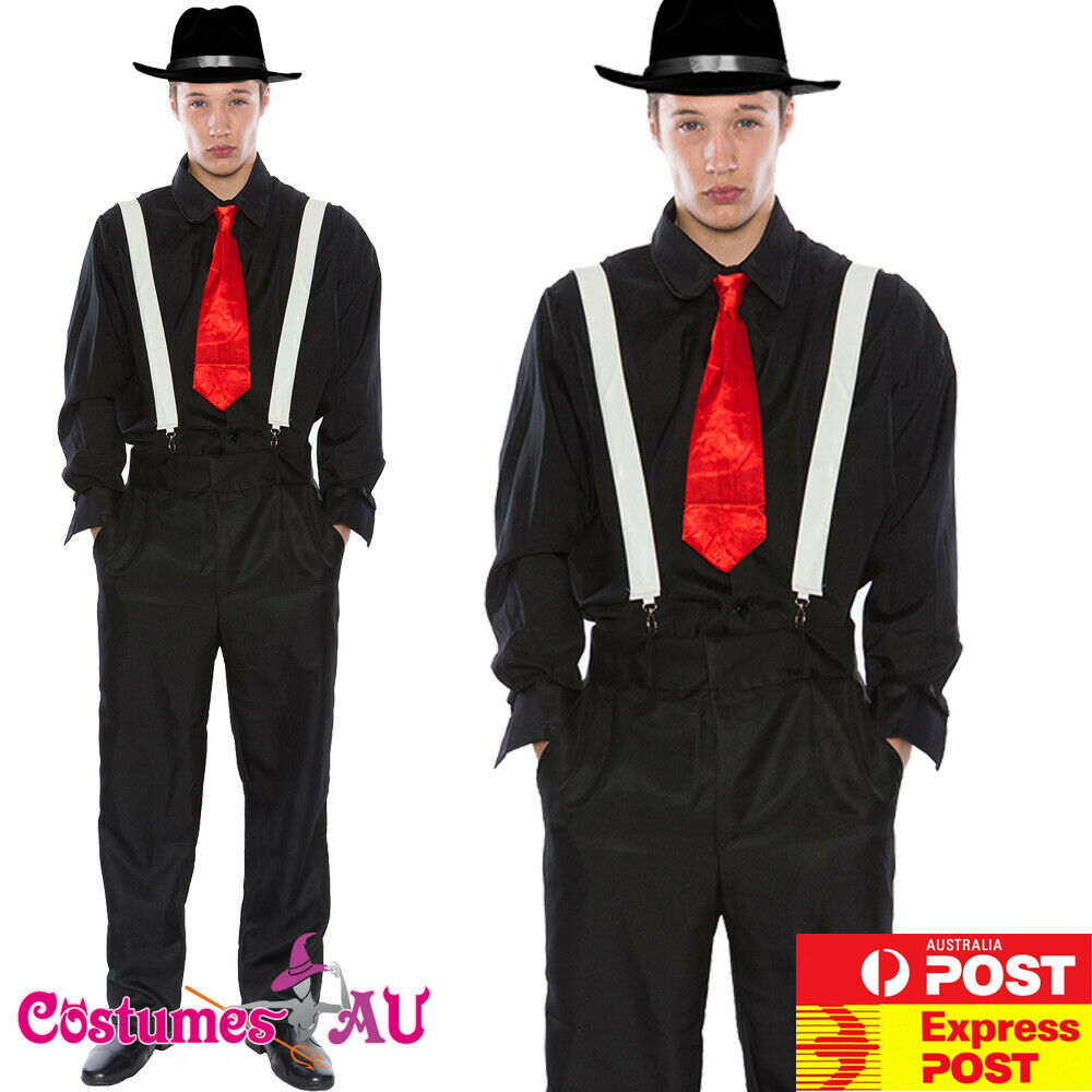 mens 20s 1920s gangster costume pinstripes pimp suit fancy