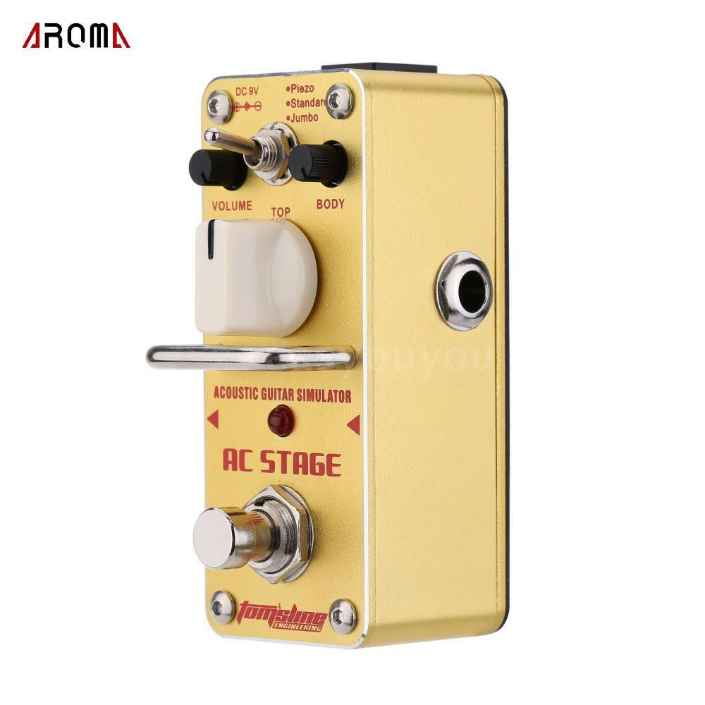 ac stage acoustic guitar simulator single electric guitar effect pedal w3b2 ebay. Black Bedroom Furniture Sets. Home Design Ideas
