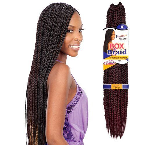 braid styles with synthetic hair multi pack medium box braids freetress synthetic 8076 | s l1000