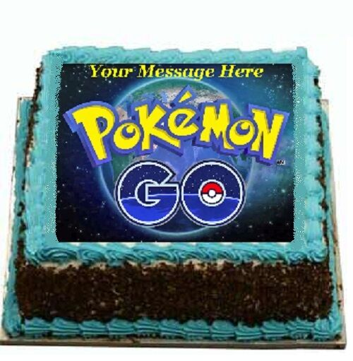 Pokemon Go logo Cake topper edible image icing party ...