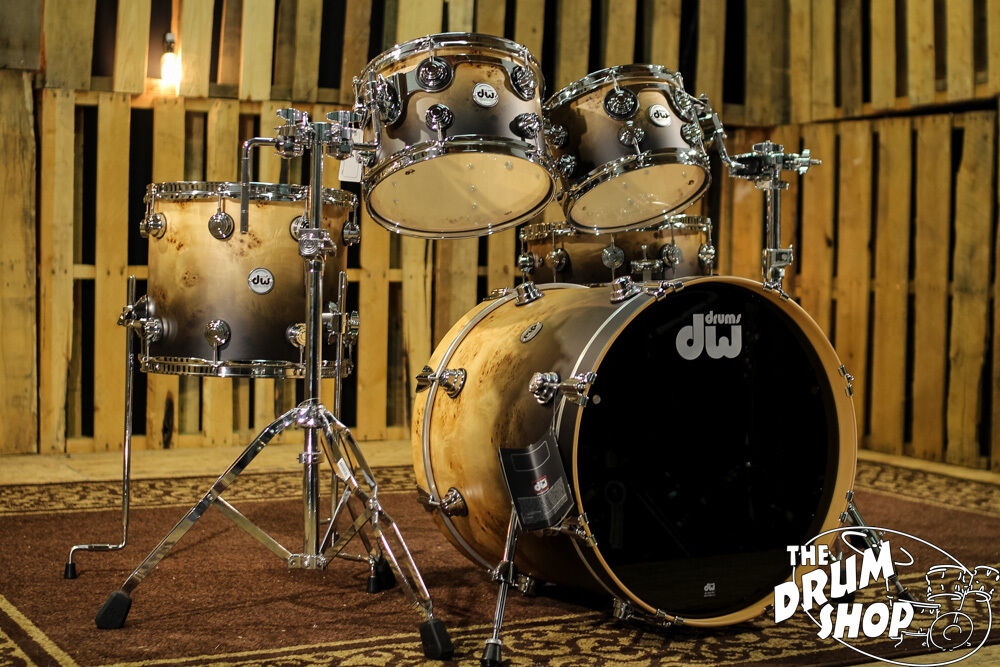 dw drums collector 39 s hard satin candy black fade exotic ebay. Black Bedroom Furniture Sets. Home Design Ideas