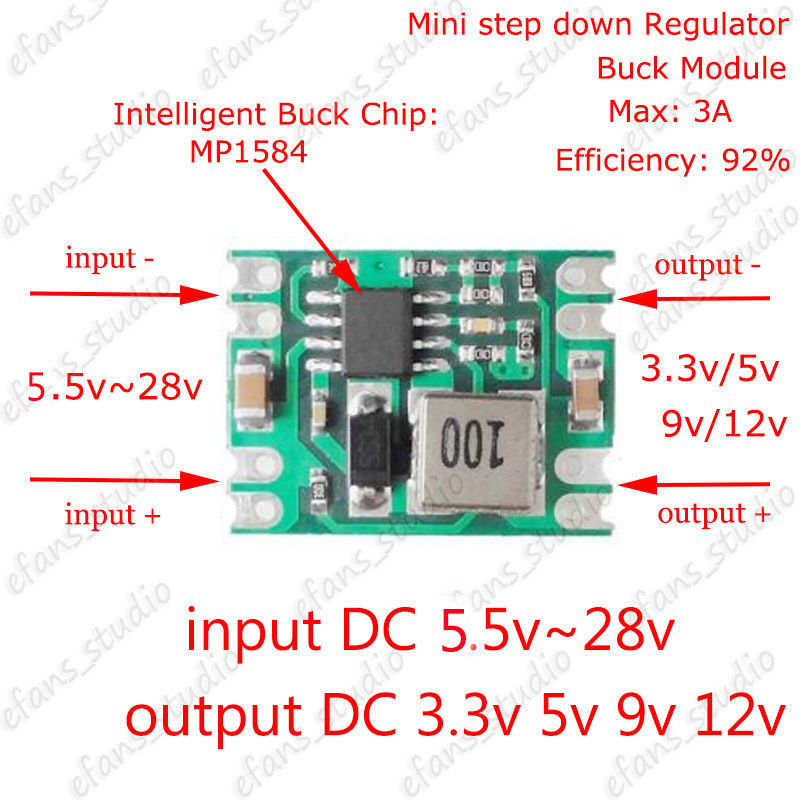 Dc Dc Buck Step Down Converter Regulator Power Supply