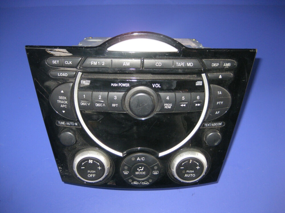 front panel radio cd mazda rx8 mit 6 fach 6cd wechsler. Black Bedroom Furniture Sets. Home Design Ideas