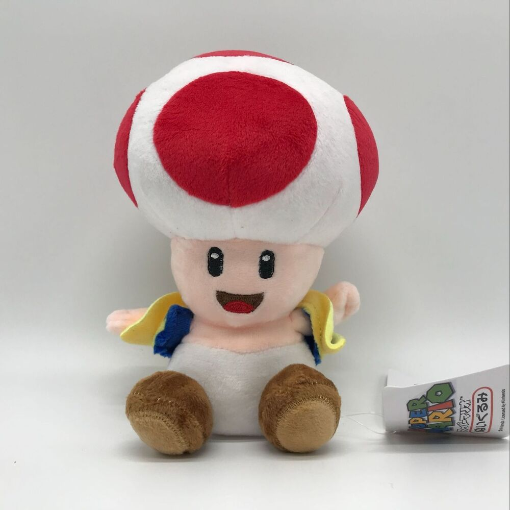 New Soft Toys : New super mario bros u plush red toad soft toy stuffed