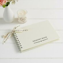 A5 Ivory Memory Condolence Book for Funeral, Celebration of Life, Remembrance