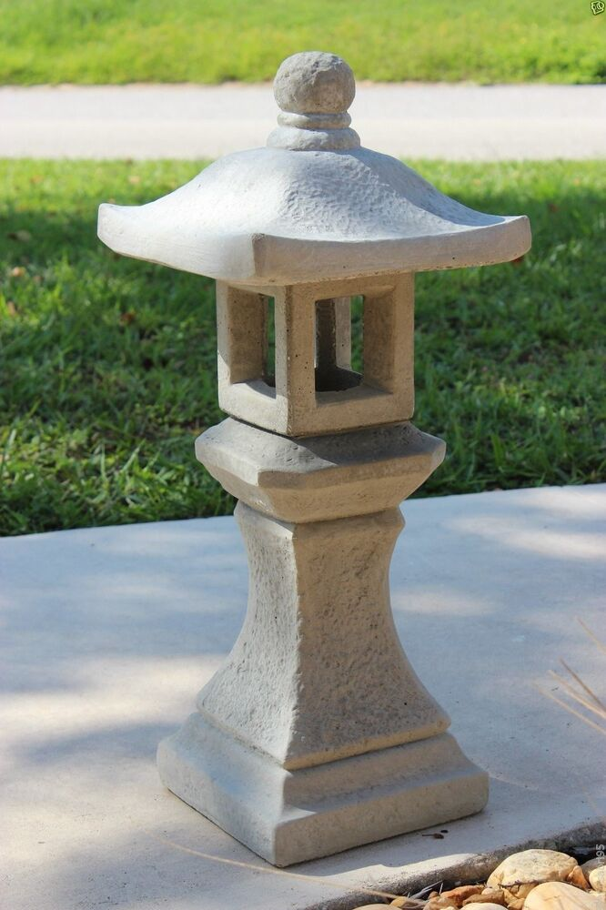 pagoda oriental concrete lantern japanese garden yard cement art stone statue ebay. Black Bedroom Furniture Sets. Home Design Ideas