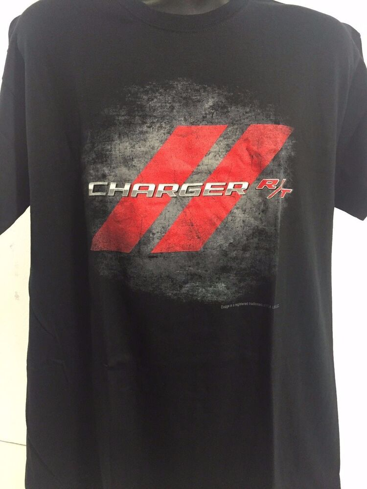 Dodge Charger R/T RT Logo Emblem T-shirt Red Road Pavement Mopar | eBay