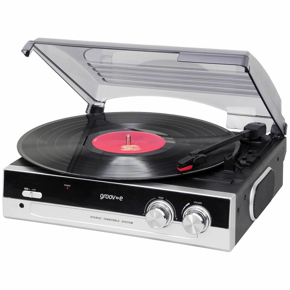 Vintage Vinyl Turntable Record Player With Built In