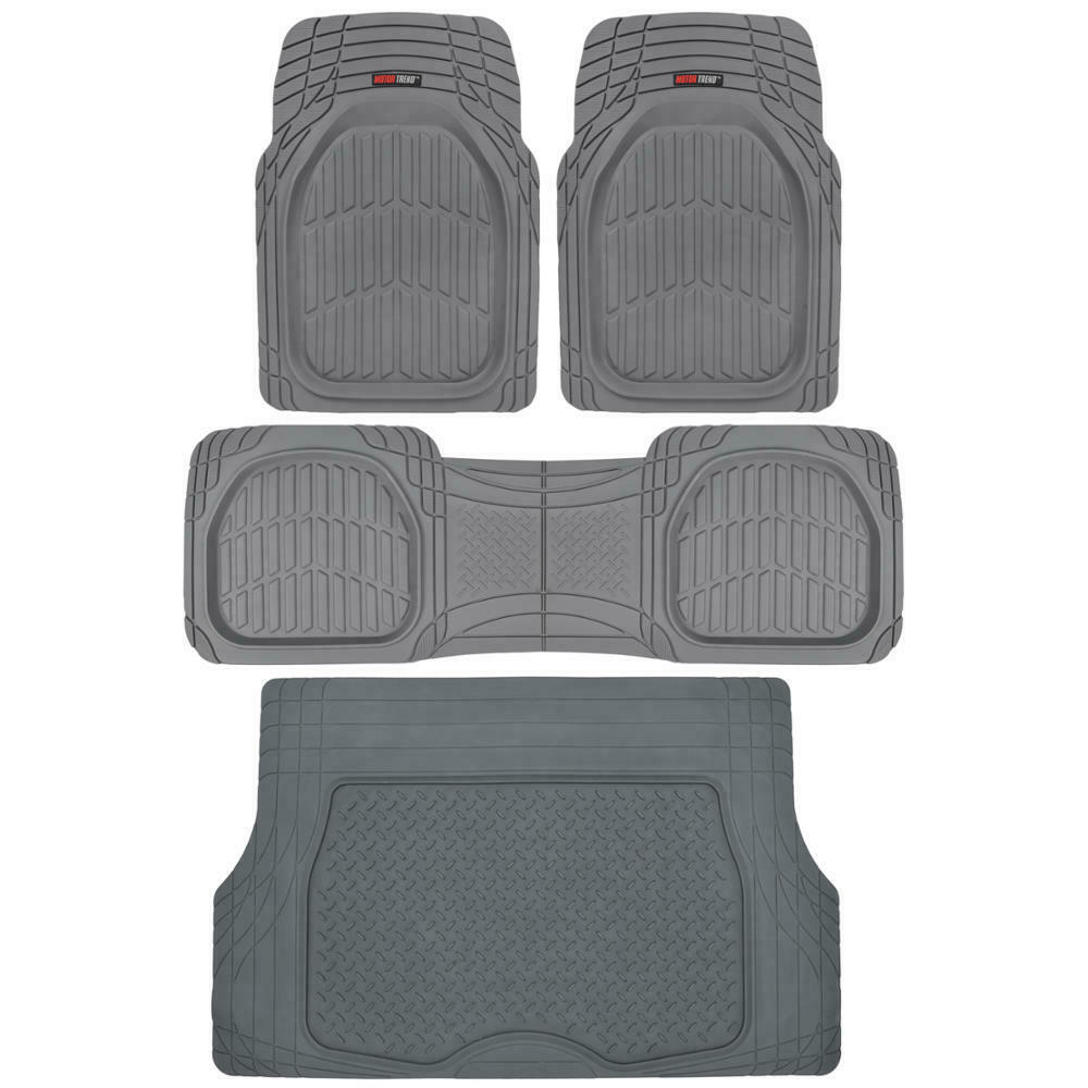 Gray Deep Dish Floor Mats Cargo Trunk Liner In Grey All