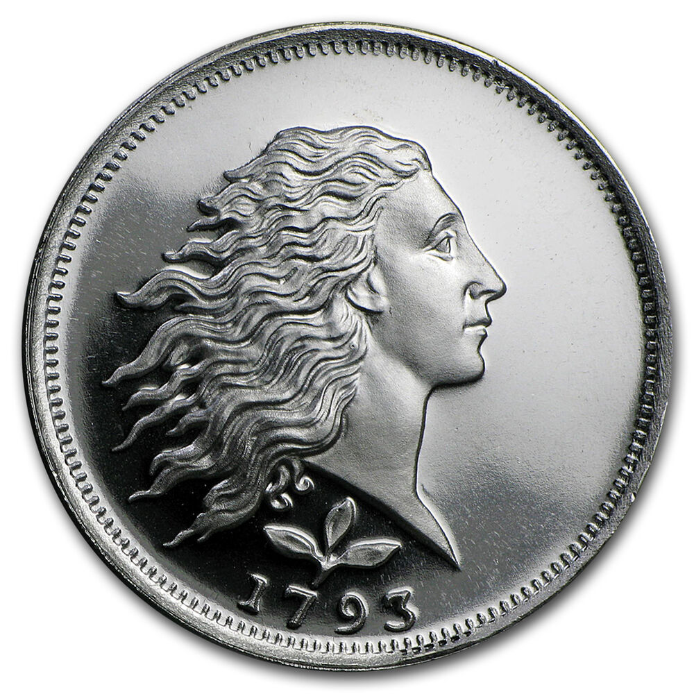1 2 Oz Silver Round Flowing Hair Sku 87487 Ebay