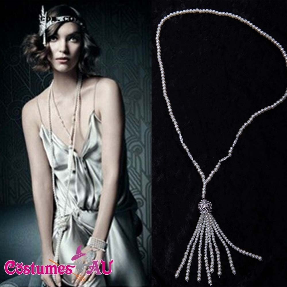 1920s 20s Pearl Necklace Vintage Bridal Great Gatsby