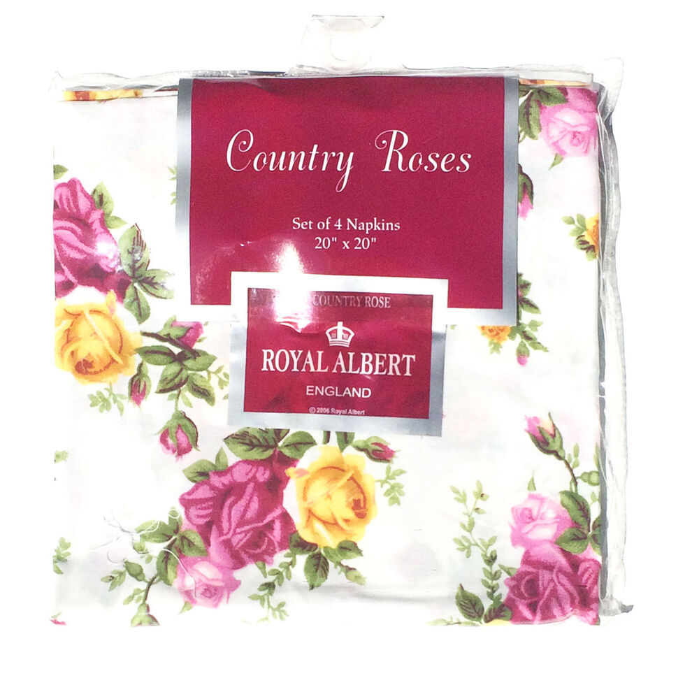 Royal Albert Old Country Roses Napkins 20 Quot X 20 Quot Set Of