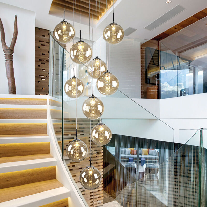 Modern glass ball bedroom pendant lamp led crystal ceiling for Glass ceiling bedroom