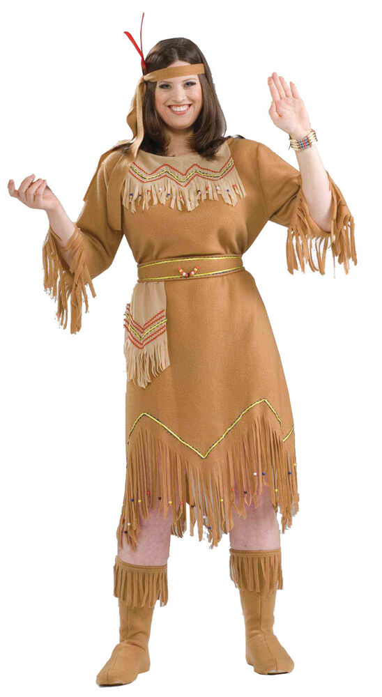 Indian Maid Adult Plus Costume Womens Native American
