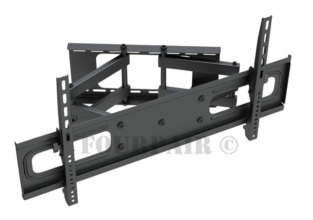 heavy duty dual arm articulating lcd led tv wall mount 43 49 50 55 58 60 65 70 ebay. Black Bedroom Furniture Sets. Home Design Ideas