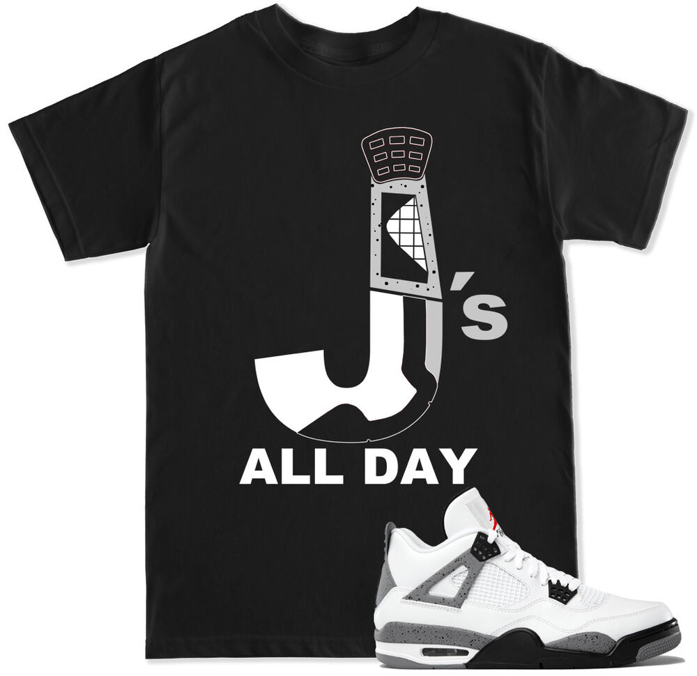 c72f3c393a45 T Shirt or Tank top to match with Jordan RETRO 4 Cement Toro Fire Red Shoes