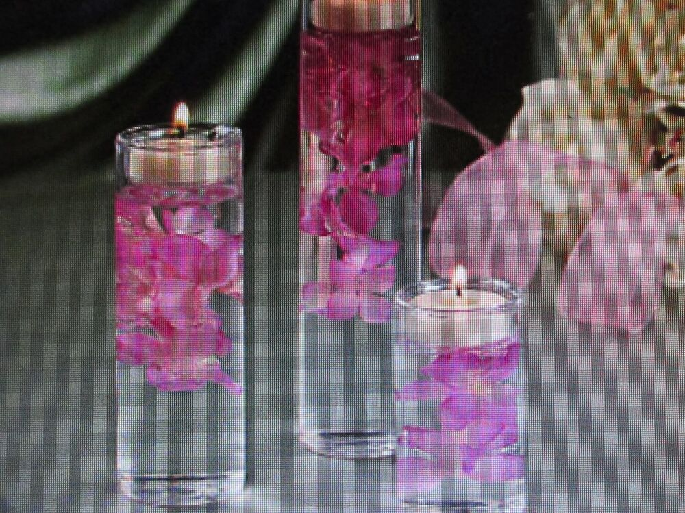 36 Glass Tealight Candle Holders Cylinders Vases Wedding Centerpiece