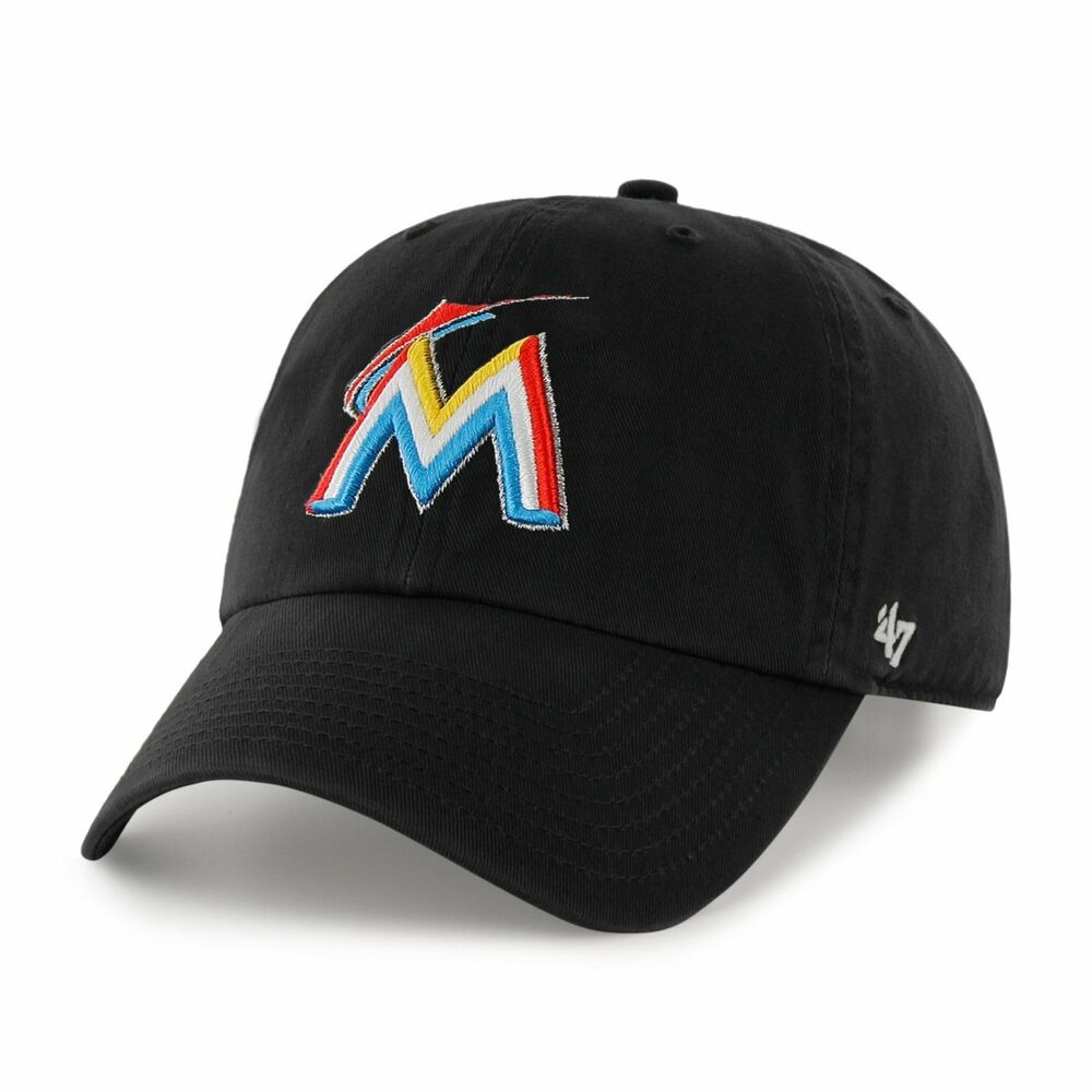 Miami Marlins 47 Brand Clean Up Adjustable Field Classic