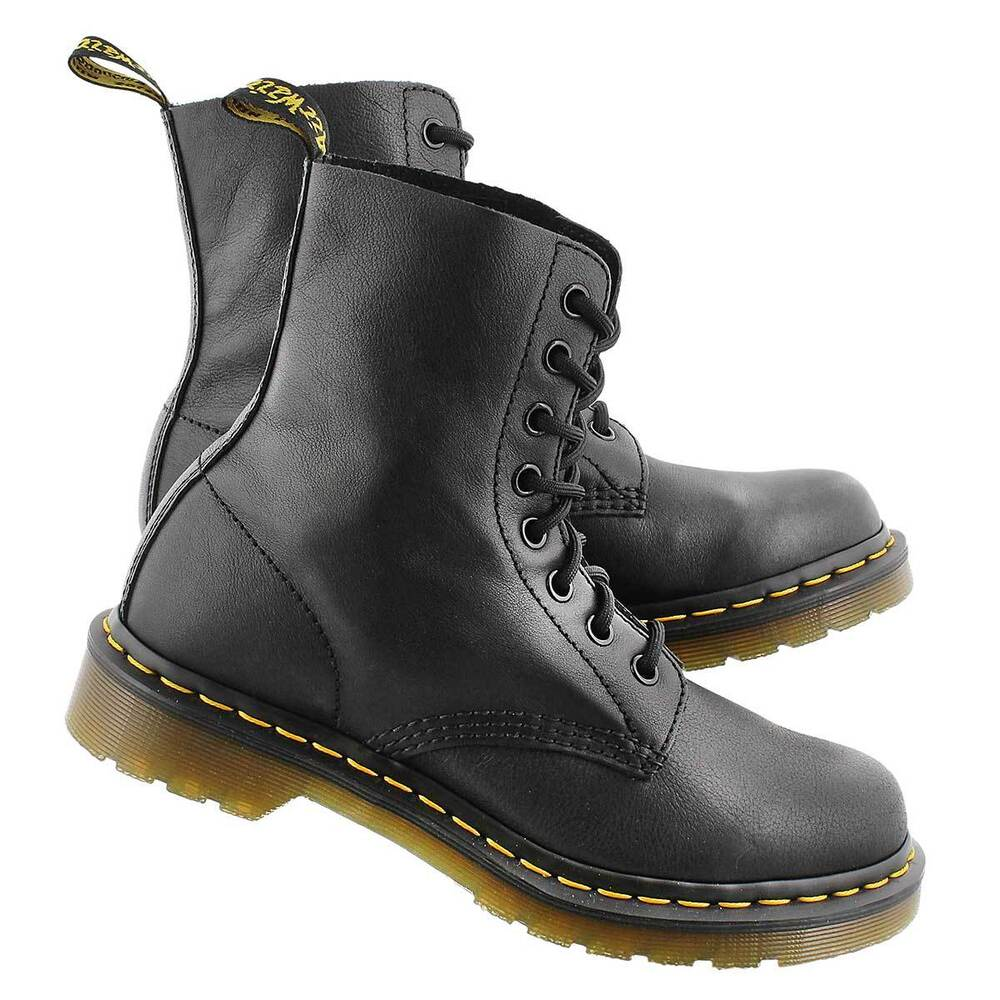 doc martens women 39 s 8 eye pascal virginia black smooth leather boot r13512006 ebay. Black Bedroom Furniture Sets. Home Design Ideas