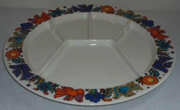 Villeroy & and Boch ACAPULCO fondue / sectioned party plate EXCELLENT