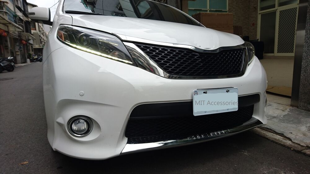 Toyota Sienna 2011 2017 Front Lower Grill Cover Chrome