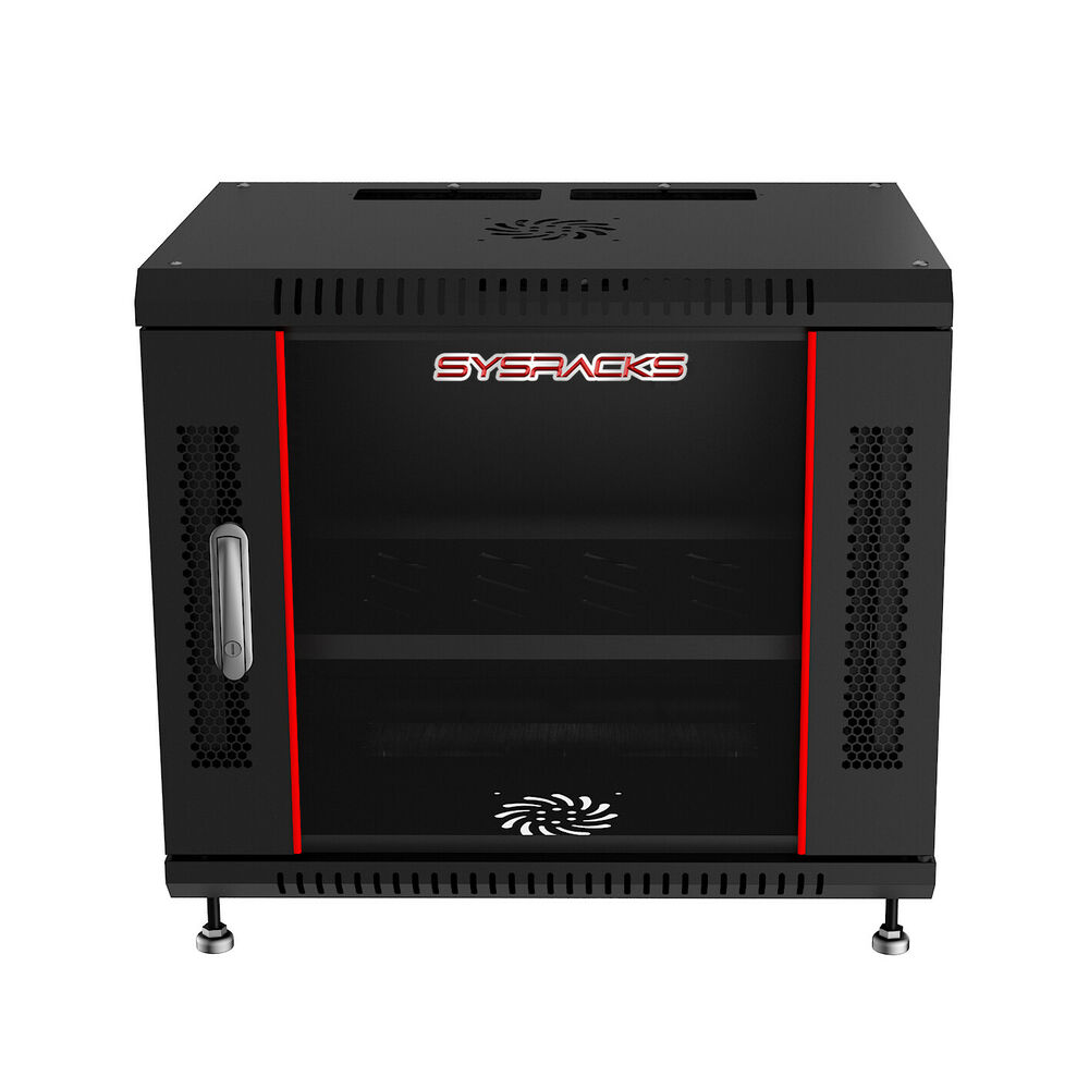 9u Wall Mount It Network Fully Equipped Server Rack