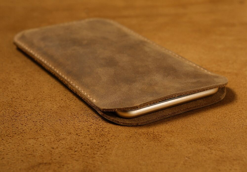 leather iphone case brown stitched retro genuine leather iphone 6 6 plus 2594
