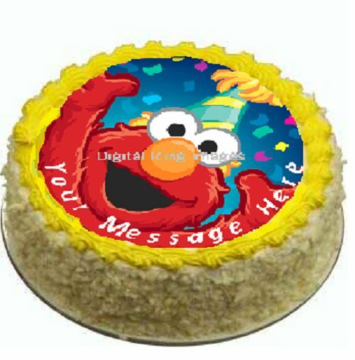 Elmo Edible Cake Images : Cake topper edible image icing Elmo sesame street REAL ...