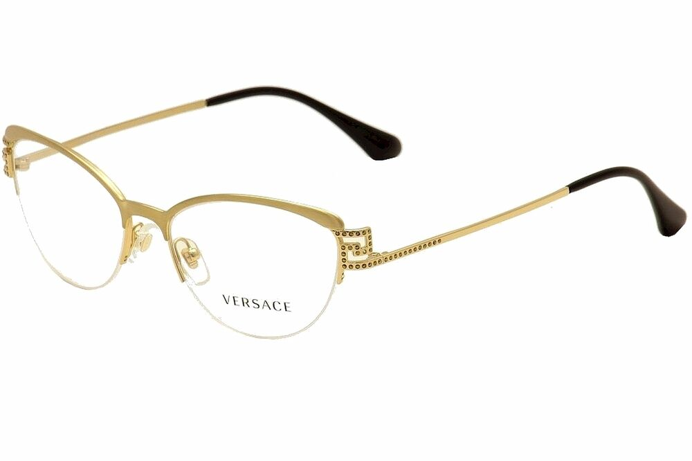 Versace Eyeglasses VE 1239B 1239/B 1352 Brushed Gold Half ...