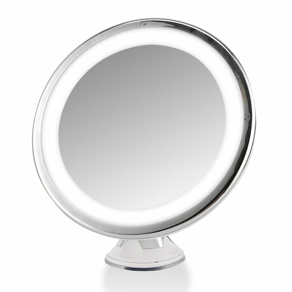 lighted makeup cosmetic vanity mirror 7x magnification tabletop led. Black Bedroom Furniture Sets. Home Design Ideas