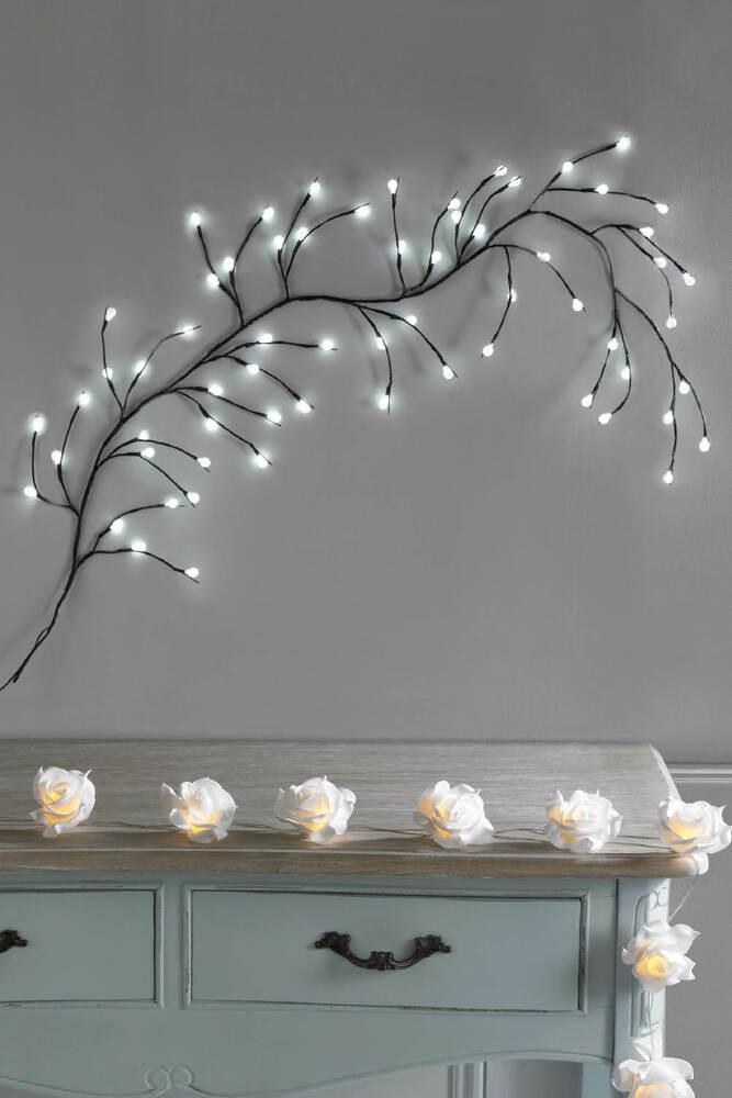 White LED Branch Wall Light Wall Art Hanging Feature ...