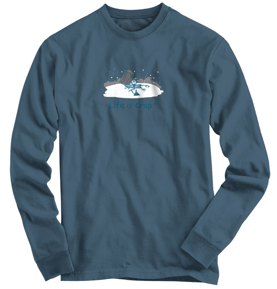 Life is crap ice fishing good life funny shirts gift ideas for Ice fishing sweatshirt