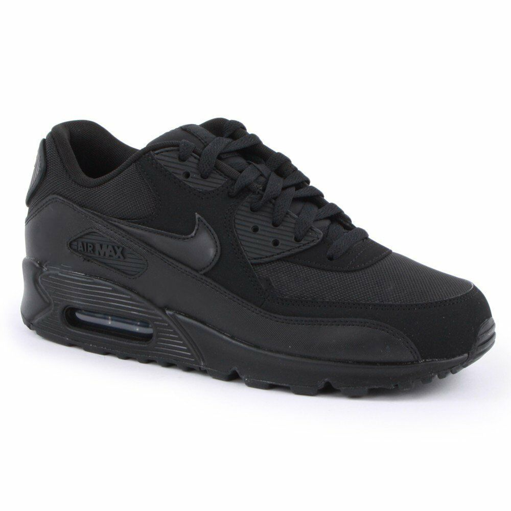 best sneakers 9b507 94148 Details about Nike Air Max 90 Essential Black   Black (Z11) 537384-090 Mens  Trainers All Sizes