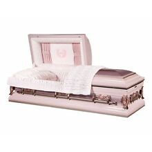 Overnight Caskets - 'Mother' Pink Finish With Light Pink Interior - Coffin Caske