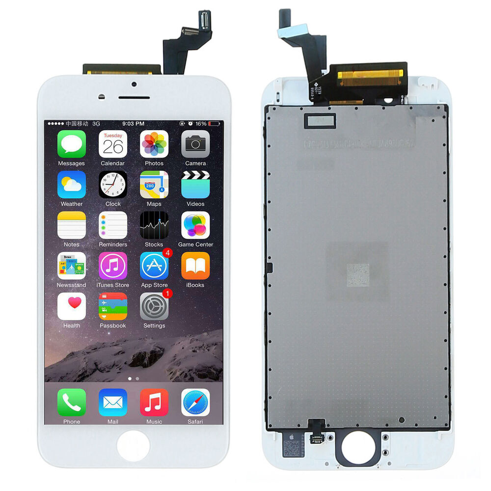 for iphone 6s 4 7 white lcd display touch screen digitizer full assembly top a ebay. Black Bedroom Furniture Sets. Home Design Ideas